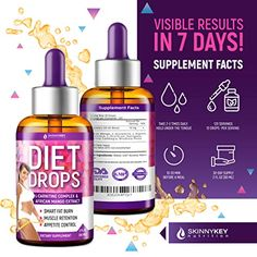 Diet Drops with L-Carnitine – Most Effective Fat Burner – Natural Appetite Suppressant & Metabolism Booster – Made in USA – Weight Loss Drops with L-Arginine, L-Glutamine & Garcinia Cambogia Metabolism Booster, Boost Your Metabolism, Fat Burner Pills, Natural Appetite Suppressant, L Arginine, Lose Weight Naturally, Diet Pills, Weight Loss, Ankara