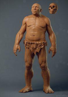 Neanderthal, Adam Sacco on ArtStation at https://www.artstation.com/artwork/neanderthal-d347ccbb-6010-4f86-90b8-d8f555b7c6a9