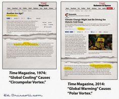"""""""¿Te congelas? ¡Es culpa del 'calentamiento global', por supuesto!"""""""