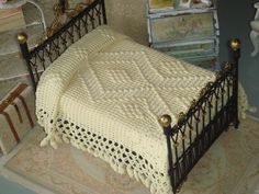 OOAK-Dollhouse Antique Hand Crocheted by ANABELAMINIATURES on Etsy
