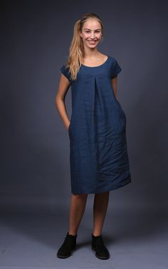 This cosy youthful natural linen dress will impart the felling of freedom and original style for every women who will wear it. The dress is