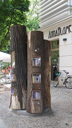 Bücherwald in Berlin.