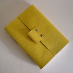 Leather Journal in Yellow & Blue - a Medieval binding by SusanGreenBooks, £70.00