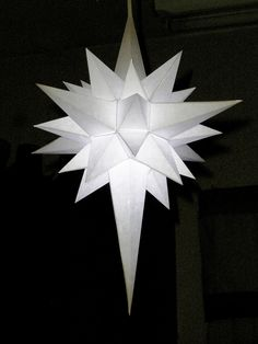 How to Make a Paper Star of Bethlehem.This one can be illuminated. (How To Make Christmas Stuff)