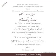 Wedding invitation wording both parents giant design wedding wedding invite wording google search stopboris Images