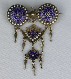 Marius Hammer Blue and White Enamel Solje Enamel Jewelry, Silver Jewelry, Jewelry Trends, Jewelry Accessories, Art Nouveau Jewelry, White Enamel, All Art, Blue And White, Sterling Silver