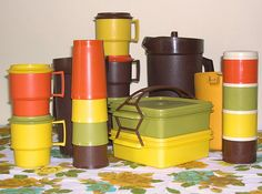 Tupperware Browns, Greens, Yellows, Orange ... what was the origin of that long lived fad? These were hot in almost every neighborhood.