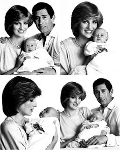 Charles and Diana and William