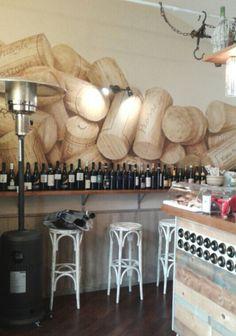 Interir design end wall painted Wine Bar...Tabacco Secco Decorazioni