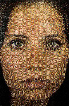 OMG - portraits made with pushpins.