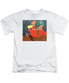 Patrick Francis Designer Kids White T-Shirt featuring the painting Bowl Of Fruit by Patrick Francis