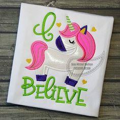 Unicorn Applique | SWAK Embroidery  Beau Mitchell Boutique