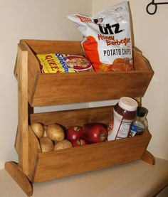 Wood Vegetable Bin wooden Bread Box Primitive by dlightfuldesigns