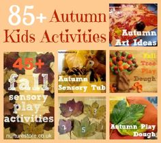 85 Autumn Kids Activities - just in time for Autumn Fun! :)