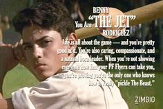 Which Sandlot character are you? I got Benny 'the Jet'