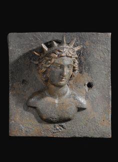 A Roman Bronze Applique of Helios, circa 2nd Century A.D.
