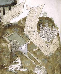 Christian Lassure - La roulotte de berger d'après des enluminures de la fin du Moyen Âge