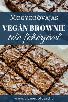 Egészséges receptek - Mogyoróvajas vegán brownie tele fehérjével