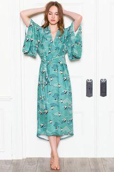 Emerson Fry's silk kimono robe