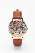 Just ordered this fab Around the World Leather Watch  #UrbanOutfitters #worldmap #watch