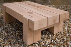 Outdoor Oak Side Table, handcrafted by Indigo Furniture