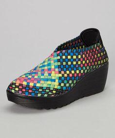 Black & Rainbow Sovi Slip-On Shoe #zulily #zulilyfinds