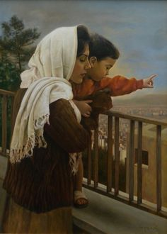 Earlier pinner said by Iman Maleki, however I've been told this is Mother and Child on the Balcony, by Shahrad Malek Fazeli.  I'm learning as I go, so thank you!