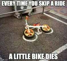 Save a little bike. Ride on..