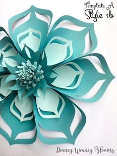 This is the first out of the Multi Style Large paper flower templates of Deaney Weaney Blooms. The cut outs on the petal can also be used as flower centers, so no waste :) -demonstrated in Style 1 Video Tutorial -and as seen on pictures 3-6 Links to video tutorials of various