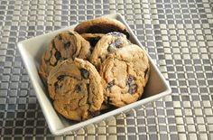 The Giant Chocolate Chip Cookies are big and chewy and chocolaty and vegan. How fun is that!