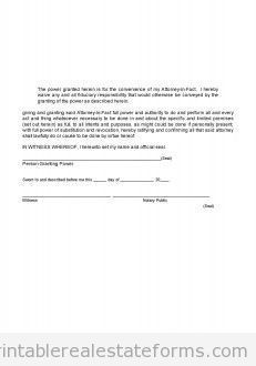 Sample Printable limited power of attorney Form | Sample Real ...