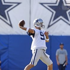 Tony Romo during training camp Nfl Preseason, Cow Boys, Tony Romo, Dallas Cowboys, Football Helmets, Training, Instagram, Dallas Cowboys Football, Exercise