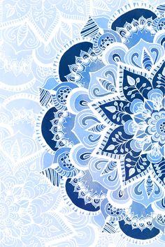 Lacy Blues Art Print by Tangerine-Tane