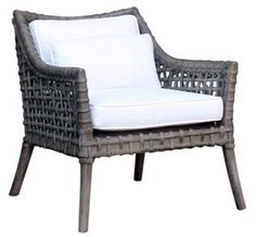 Rattan Armchair  Contemporary, Transitional, Organic, Natural Material, Canvas, Armchairs  Club Chair by English Country Home