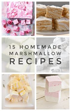 - 15 Homemade Marshmallow Recipes that are a Perfect Dream It& a whirl of sugary delight! Marshmallows are so delicious when they are homemade. You need these 15 Homemade Marshmallow Recipes that are a perfect dream! Recipes With Marshmallows, Homemade Marshmallows, Marshmallow Recipes, Marshmallow Delight Recipe, Peppermint Marshmallows Recipe, Gourmet Marshmallow, Marshmallow Cake, How To Make Marshmallows, Köstliche Desserts