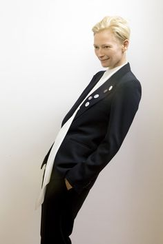 TORONTO: Actress Tilda Swinton poses at the Toronto Film Festival 2009. (Photo by Jeff Vespa/ Contour by Getty Images)