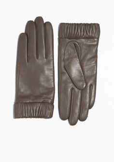 & Other Stories | Elastic Cuff Leather Gloves