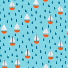 145103 Ship Ahoy! Quilter's Cotton from Spring Walk by little cube for Cloud9 Fabrics