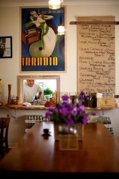 menu, cafe, pure italian, balwyn north, photo by Guy Lavoipierre  love the hanging menu
