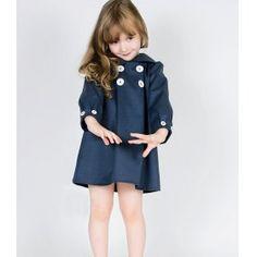 Long Sleeved Blue Girl Kids Dress