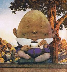 Life magazine 'Humpty Dumpty' Easter cover art (detail), by Maxfield Parrish, March 12, 1921