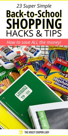 Wondering how to save on back to school supplies? If you've gotten your kids' back to school supply lists already, you're definitely trying to figure out how to get through the list for cheap. Whether you're looking for those cute back to school supplies or fresh back to school outfits ('cause you're a cool mom!), back to school shopping cheap is easy when you have The Krazy Coupon Lady to show you these tips and hacks! Bargain Shopping, Shopping Hacks, Shopping Deals, Back To School Supplies List, Back To School Shopping, Best Money Saving Tips, Saving Money, Shop Till You Drop, School Days