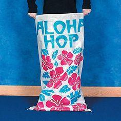 Tropical Potato Sacks (set of : These woven nylon sacks are perfect for luau or tropical pool party games. price is per 2 sacks Aloha Party, Hawaiian Luau Party, Hawaiian Birthday, Luau Birthday, 10th Birthday Parties, Tropical Party, Hawaiian Theme, Moana Birthday, Tropical Games