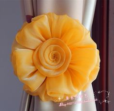 Curtain buckle,big flower,window curtain hook tie back curtain clips accessories,silk ribbon tie,hotel wedding party-in Curtain Decorative Accessories from Home & Garden on Aliexpress.com | Alibaba Group