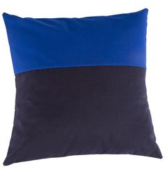 Navy & Blue Colorblock Outdoor Pillow | Rejuvenation #TakeItOutside