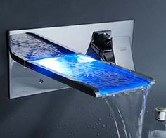 Color Changing Waterfall Faucet http://www.thisiswhyimbroke.com/color-changing-waterfall-faucet