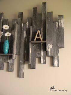 Forever Decorating!: Barn Wood Wall Art & Basement