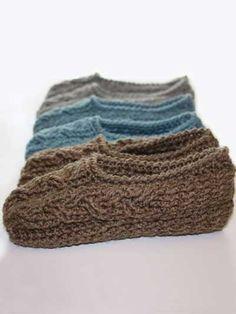 Crochet - Crochet Clothing - Slipper Patterns - Cottage Slippers
