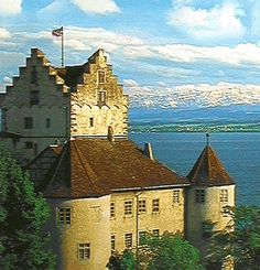 Meersburg high over the Bodensee (Video). Germany.  Go to www.YourTravelVideos.com or just click on photo for home videos and much more on sites like this.