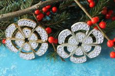 Set of gold and silver quilled snowflakes / by OrnamentHouse